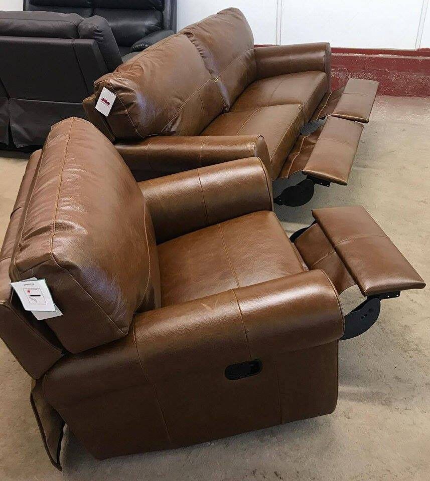 Brand New Heart Of House Salisbury 3 Seater Recliner Leather Sofa  ~ Recliner Leather Sofa Deals