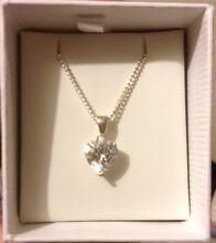 Silver love heart bling necklace Salisbury Plain Salisbury Area Preview