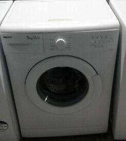 C047 white beko 5kg 1000spin AA rated washing machine comes with warranty can be delivered