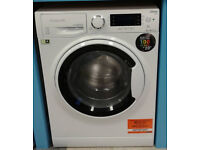 O164 white hotpoint 8kg 1400spin A+++ rated washing machine comes with warranty can be delivered