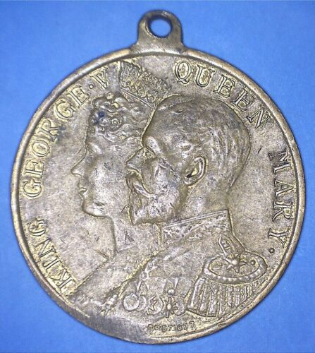 1911 BOROUGH OF FULHAM CORONATION MEDAL GEORGE V / MARY - NORTH STAR - *22462547