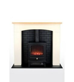 Brand New Beldray Millom Stove Suite 2KW Electric Fire - Ivory Cream