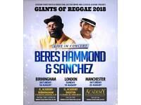 Beres Hammond & Sanchez Concert Tickets - Manchester