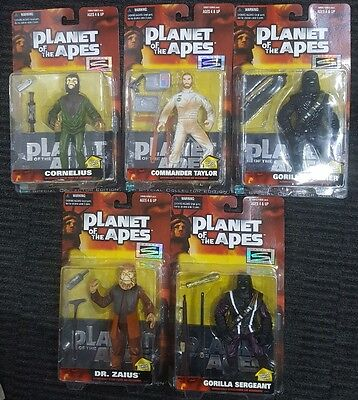 1999 Planet of the Apes Movie Action Figures Hasbro Signature Series Lot of 5