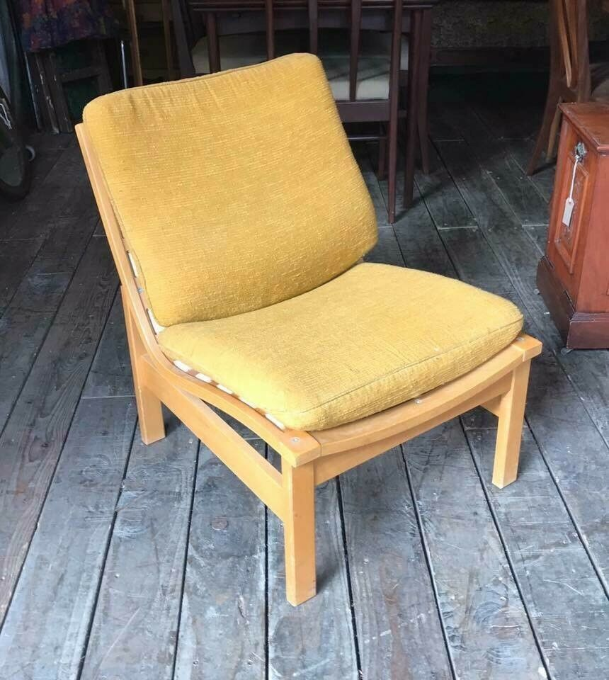 Retro Cushioned Chair - Vintage