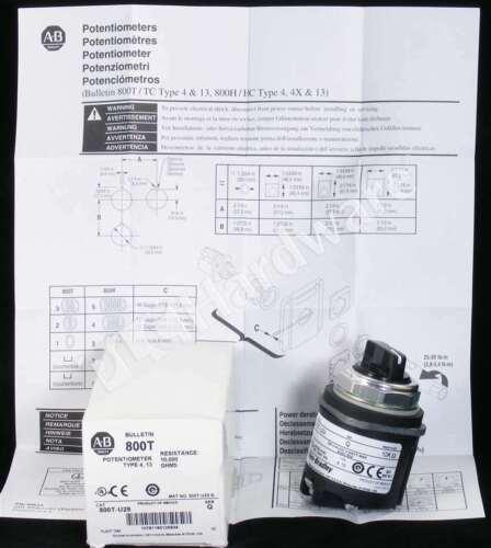 New Allen Bradley 800T-U29 /Q 30.5mm Potentiometer 10000 Ohms Resistive