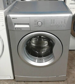 C037 silver beko 8kg 1200spin A+AB rated washing machine comes with warranty can be delivered