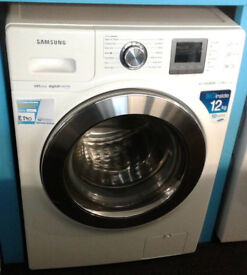 j437 white samsung 12kg 1400spin washing machine comes with warranty can be delivered or collected