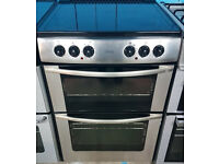 l504 stainless steel belling 60cm ceramic hob double oven electric cooker comes with warranty