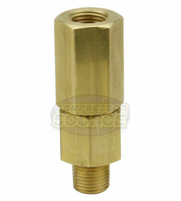 18 Male X Female Solid Brass In Line Check Valve Air Compressor 500 Psi New