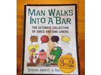Man Walks into a Bar joke book very thick