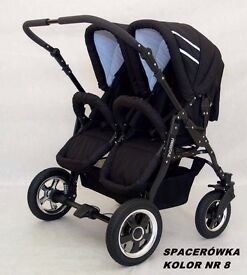 Double pram twin buggy