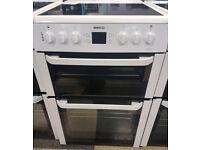 a496 white beko 60cm ceramic hob electric cooker comes with warranty can be delivered or collected