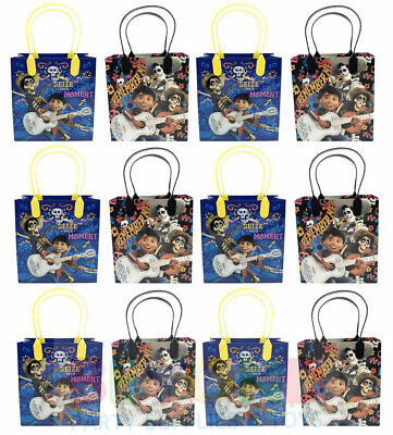Disney COCO Gift Bags Party Favor Treat Goody Candy Loot Birthday Bags  - Plastic Treat Bags