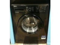 F364 black beko 7kg 1200 spin washing machine with warranty can be delivered or collected