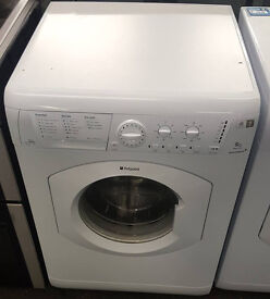 L89 white hotpoint 9kg washing machine comes with warranty can be delivered or collected
