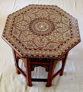 Indian Inlaid Octagonal Table Royal Design