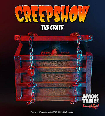 """Monstarz Creepshow """"The Crate"""" 3.75"""" Scale Retro Action Figure Fluffy monster for sale  Shipping to India"""