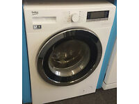 l254 white & chrome beko 12kg 1400spin washing machine comes with warranty can be delivered