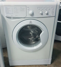 n483 white indesit 6kg A class 1000spin washing machine comes with warranty can be delivered
