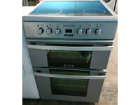 t178 silver zenith 60cm double oven electric cooker comes with warranty can be delivered