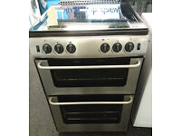 t153 stainless steel newworld 60cm double oven gas cooker comes with warranty can be delivered