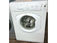E295 white hotpoint 6kg 1200spin washing machine comes with warranty can be delivered or collected