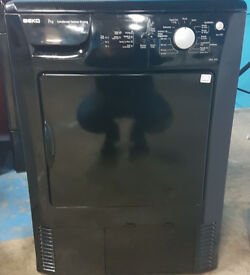 n487 black beko 7kg condenser dryer comes with warranty can be delivered or collected