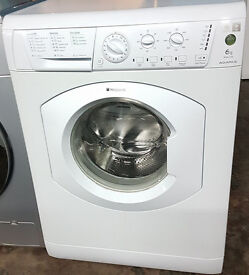 b295 white hotpoint 6kg 1200spin washing machine comes with warranty can be delivered or collected
