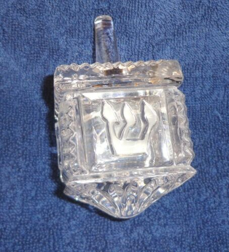 Crystal DREIDEL Hanukkah Chanukah JUDAIC Mint Hebrew Lettering Religious Holiday