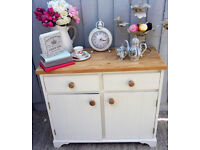 Stunning Solid Pine Shabby Chic Vintage Sideboard