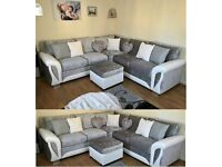 LUXURY BRAND NEW SHANNON CRUSH CORNER SOFA / 3+2 SOFA SET AVAILABLE ORDER NOW