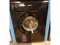 456 black bush 6kg 1200spin washing machine comes with warranty can be delivered or collected
