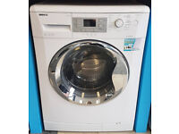 b630 white & chrome 9kg 1400rpm washing machine comes with warranty can be delivered or collected