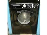 i264 black hotpoint 7kg 1400spin washing machine come with warranty can be delivered or collected