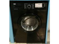 F357 black beko 8kg 1400 spin washing machine with warranty can be delivered or collected