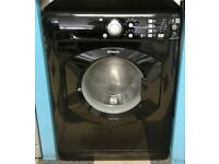 i264 black hotpoint 7kg washing machine comes with warranty can be delivered or collected
