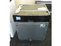 Hm406 black and stainless steel whirlpool integrated dishwasher new graded with full warranty