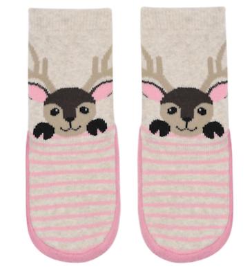 baby girl boy deer slipper socks toddler