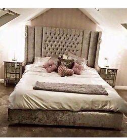 Upholstered sleigh beds 3ft4'6 5ft 6ft