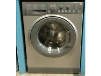 i285 graphite hotpoint 6kg washing machine comes with warranty can be delivered or collected