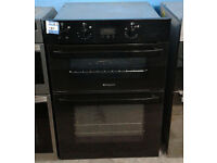 a370 black hotpoint integrated double electric oven comes with warranty can be delivered