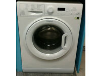 a763 white hotpoint 9kg 1400spin A*** rated washing machine comes with warranty can be delivered