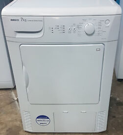 c486 white beko 7kg condenser dryer comes with warranty can be delivered or collected