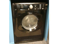 a644 black hotpoint 7kg 1400spin washer dryer comes with warranty can be delivered or collected
