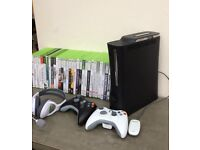 Xbox 360 bundle with 2 controllers and 31 games £65 ONO