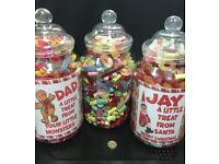 Giant Sweetie Jar PERSONALISED perfect Christmas Gift