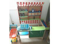 Wooden Market Stall With Extras