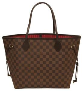 c613fe649aa0 Louis Vuitton Damier Ebene Canvas Neverfull Mm N41358