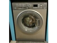749 graphite hotpoint 9kg washing machine comes with warranty can be delivered or collected